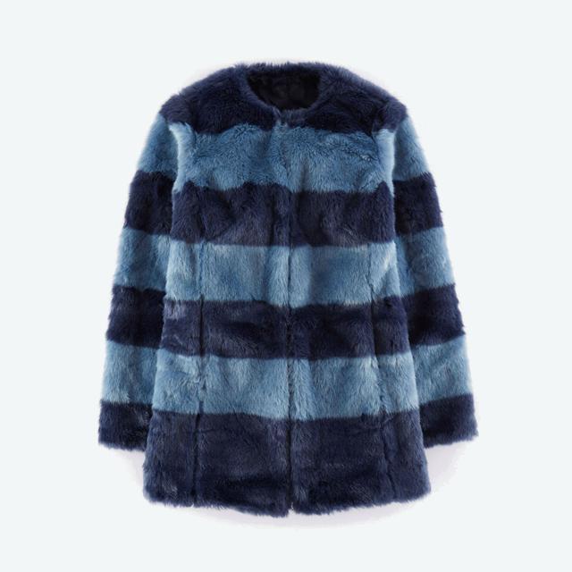 Pippa faux fur coat endource for Boden mid season sale 2015