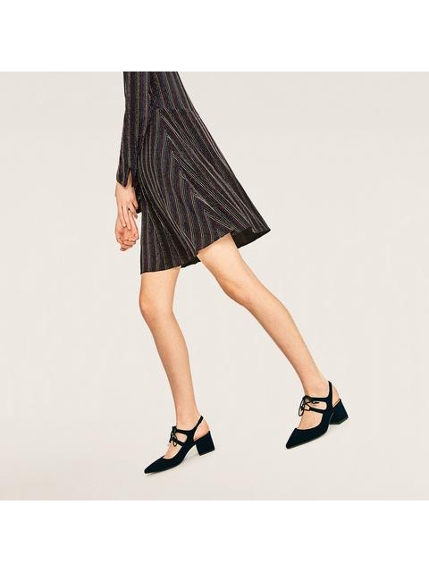 07b659205770 Velvet Tie-Up Sandals