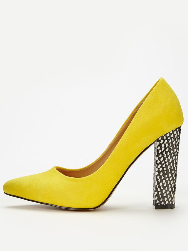 Imogen Block Heel Point Court Shoes | Endource