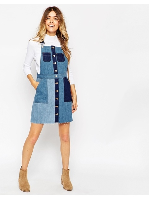 223c80f8223 Patchwork Mini Pinafore Dress