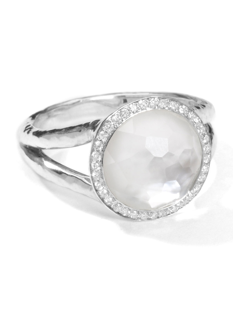 Fine Jewelry Radient Sterling Silver Mother Of Pearl Ring