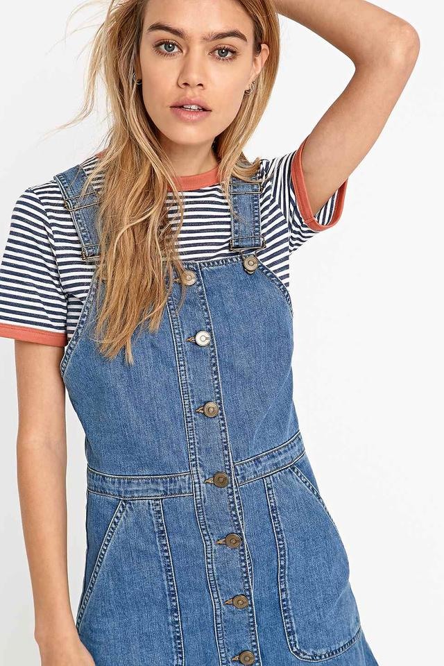 New Sweet Vibes Juniors Womens Denim Romper Overall Dress