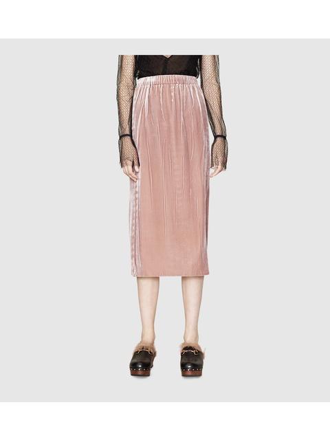 f33af64455 Pressed Velvet Mid-Length Skirt | Endource