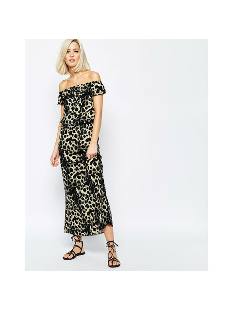 ca9a2e0896 Leopard Print Maxi Dress