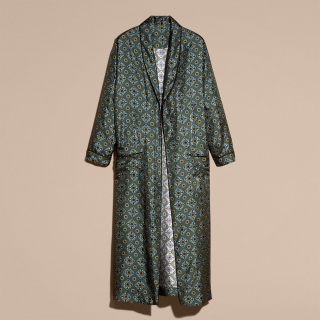 Geometric Twill Dressing Gown Coat | Endource