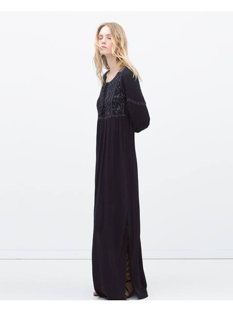 d6acb9f7 Embroidered Long Dress | Endource