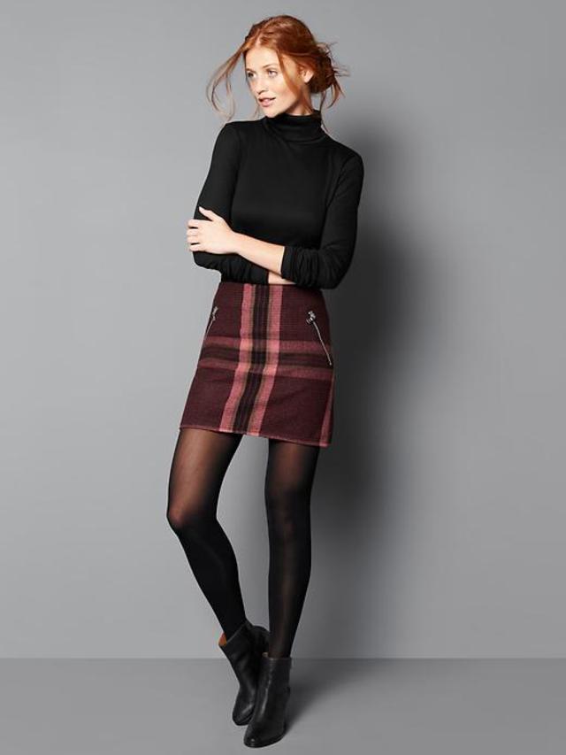 Plaid Mini Skirt Endource