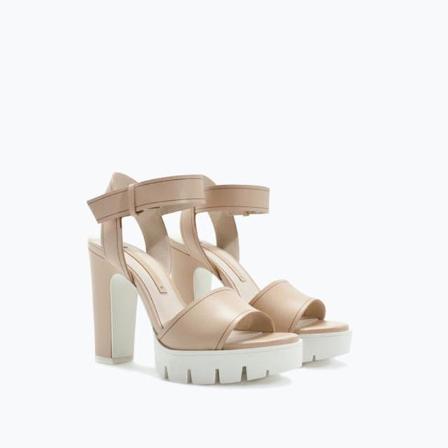 75f03bd28e3 Leather sandal with track heel