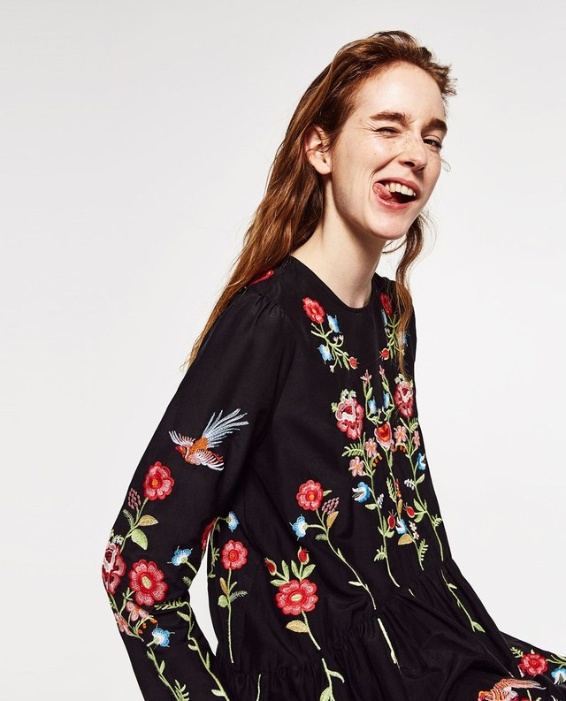 Embroidered Floral Dress Endource