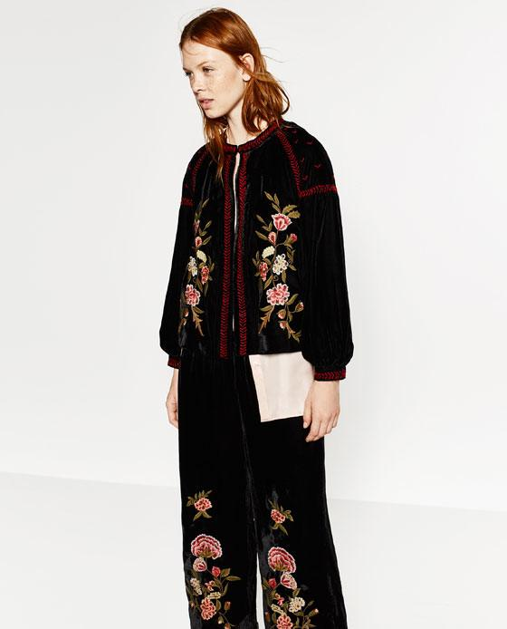Embroidered Velvet Jacket  Endource