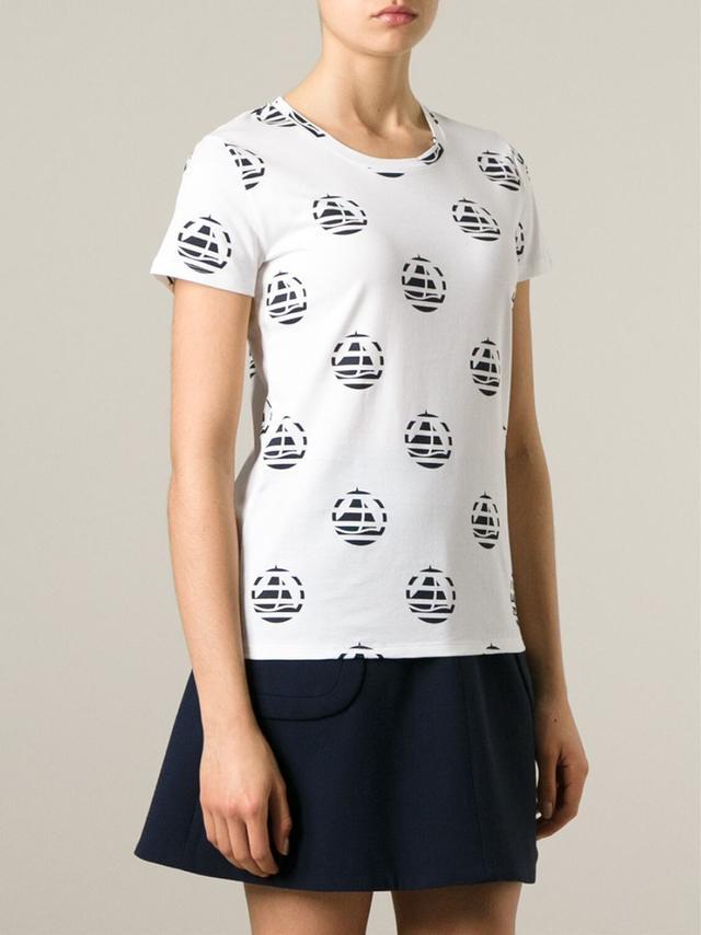 Striped logo t shirt endource for Petit bateau striped shirt