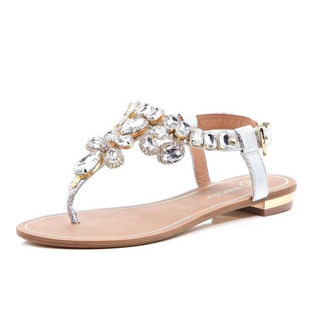 Gemstone Embellished Sandals Endource