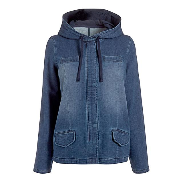 Ladies Blue Parka Jacket Coat Nj