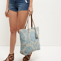Abstract Woven Beach Bag | Endource