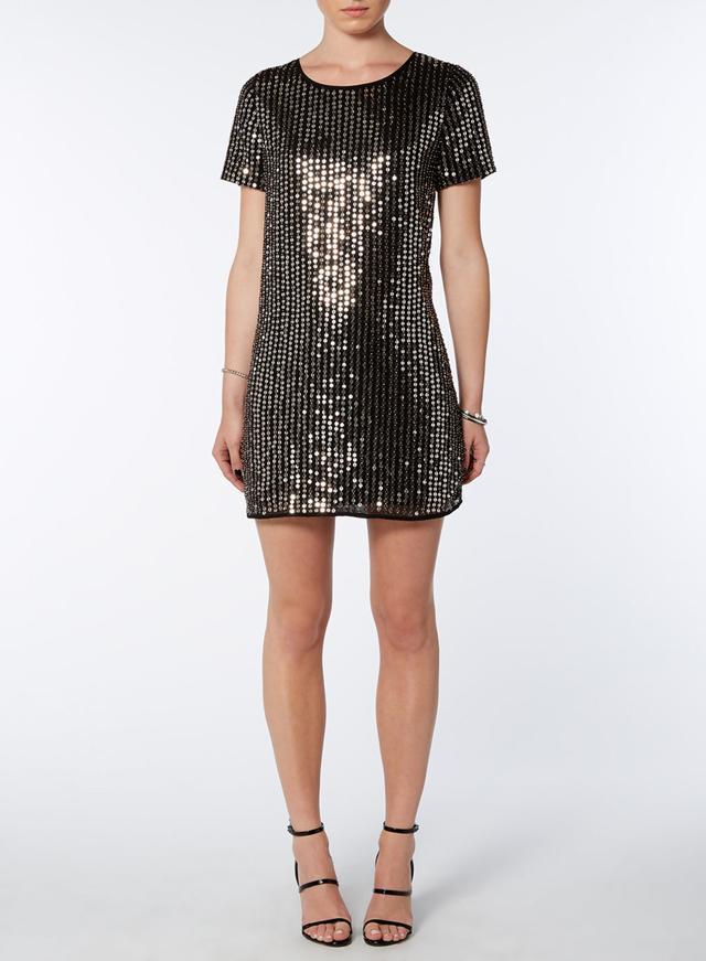 Lola Skye Black All Over Sequin Dress - Endource