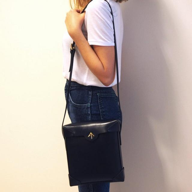 Genuine Online Manu Atelier Black Pristine leather cross body bag Official Sale Online Outlet Nicekicks Hurry Up Buy Cheap Low Price Fee Shipping KkxxXaOji