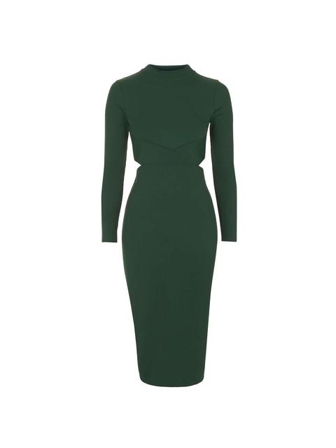 Long Sleeve Cut Out Midi Dress Endource