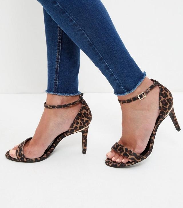 New Look Animal Print Heeled Sandals