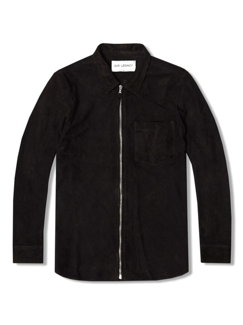d1d5d8f38f2b Suede Zip Shirt Jacket