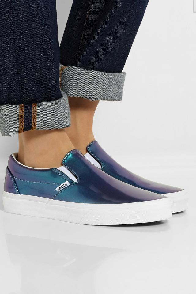 holographic leather slip on sneakers endource