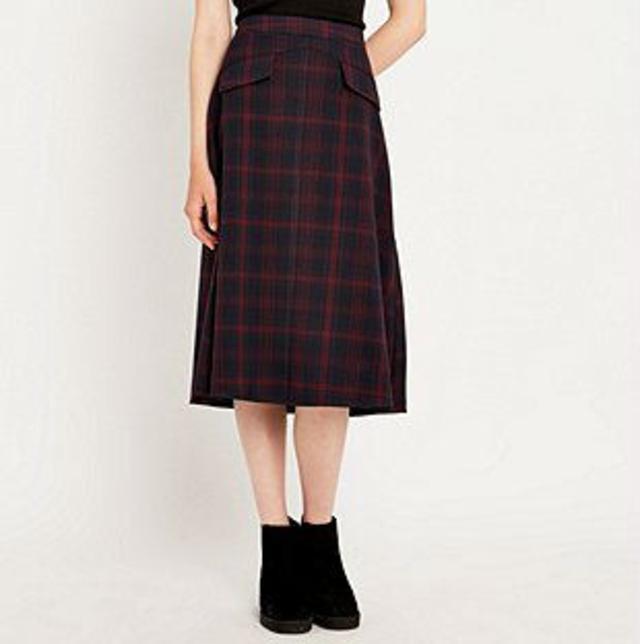 midi check skirt endource