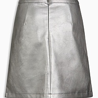Leather Look A-Line Skirt | Endource