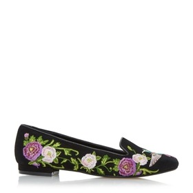 Growe Embroidered Loafers by Dune London