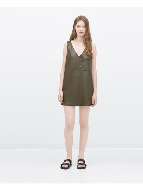 6e6f312aeeb04 Sleeveless V-neck Dress
