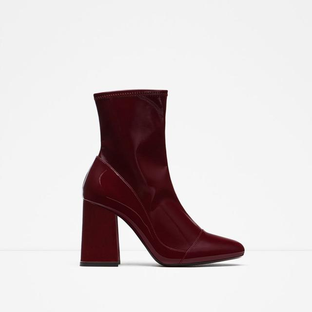 high heel sock style ankle boots endource