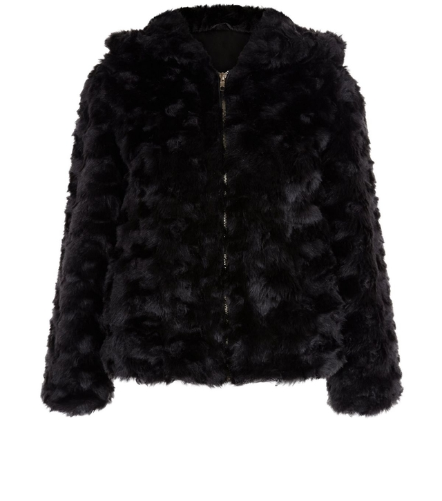 Faux Fur Hooded Jacket Endource