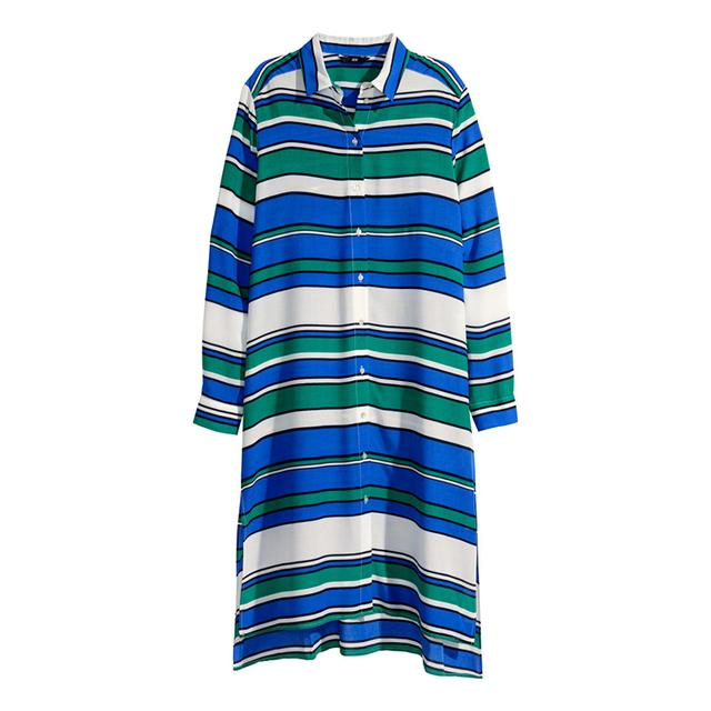 Striped Shirt Dress by H&m