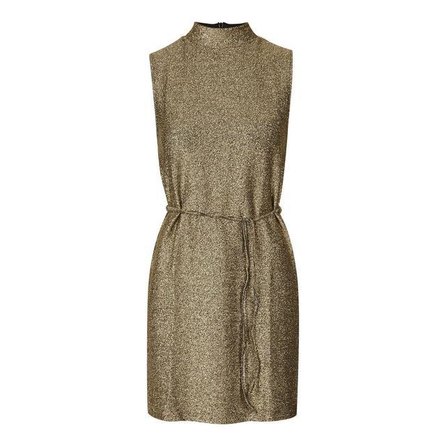 208bc6eb94e Metallic High-Neck Tunic Dress | Endource