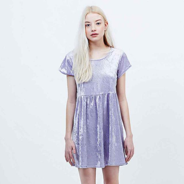 Velvet Babydoll Dress Endource