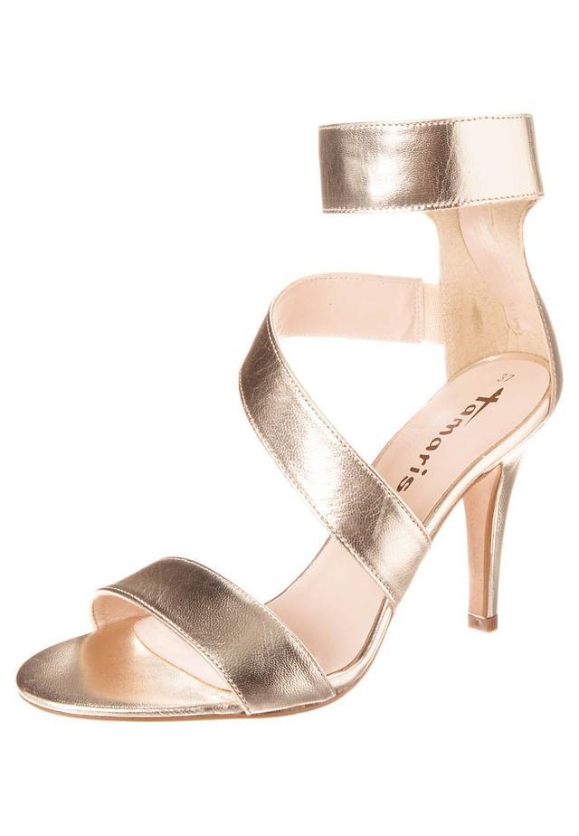 high heeled sandals gold endource. Black Bedroom Furniture Sets. Home Design Ideas