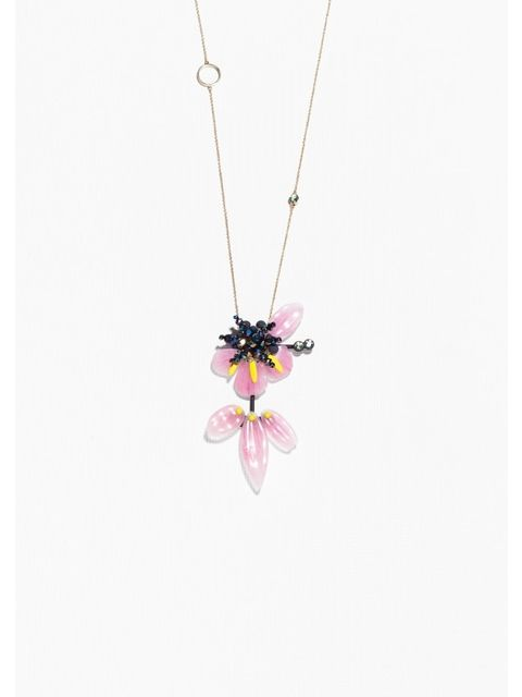 Mixed Media Hibiscus Necklace Endource