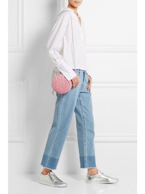 a68364125a88 Circle Matelassé Leather Shoulder Bag