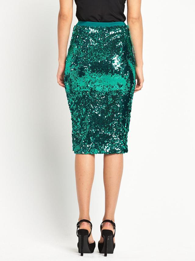 Sequin pencil skirt green – Modern trending things photo blog