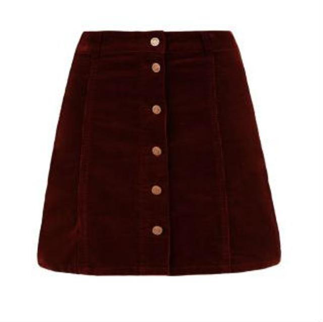Button Front A-Line Skirt | Endource