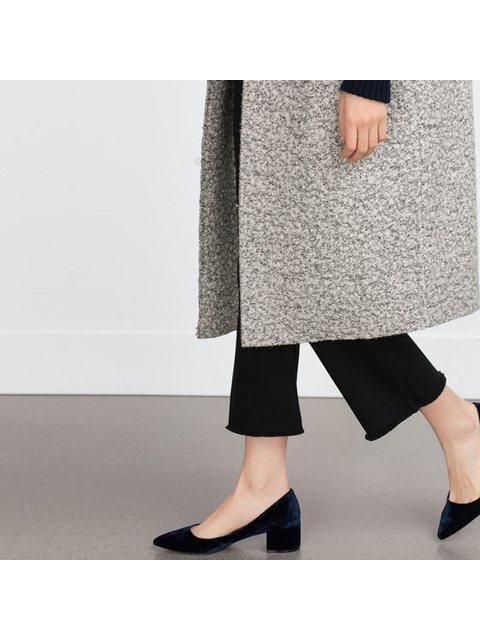 c4caaf50c9f Block Heel Velvet Shoes
