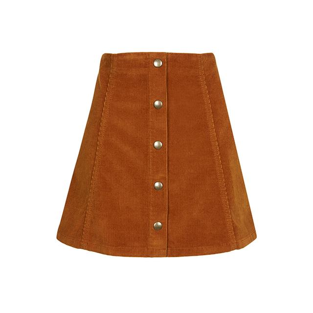 Brown A Line Skirt - Skirts