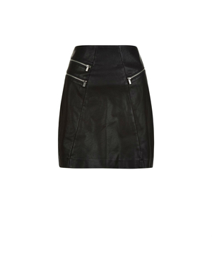 Stud Front Leather Skirt | Endource