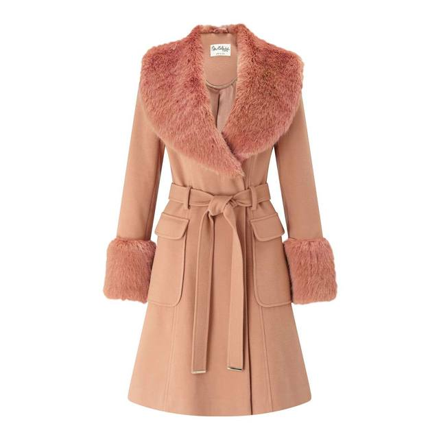 aa1267deac13 Faux Fur Cuff And Collar Coat | Endource