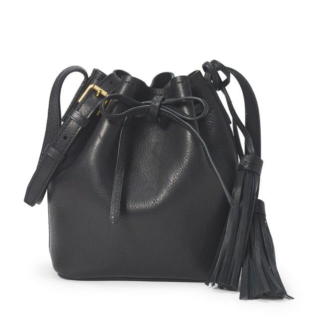 Mini Leather Bucket Bag by POLO Ralph Lauren