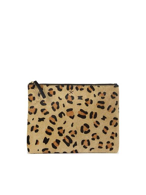 83494f3ab7d8 Leather Leopard Print Clutch Bag | Endource