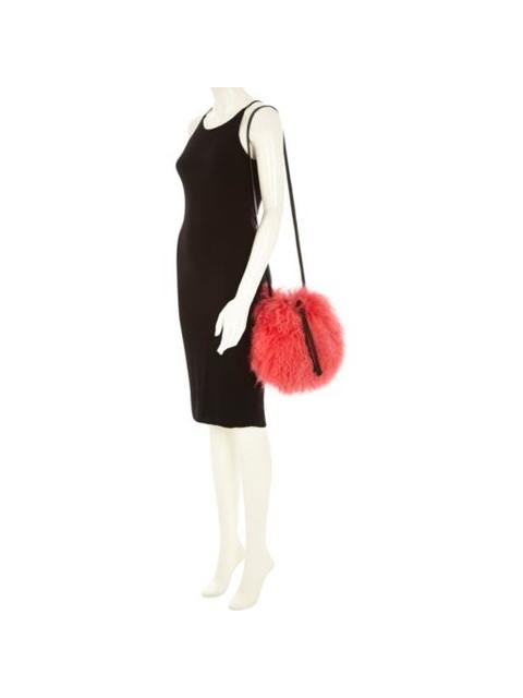08fb6f98ae17 Pink Leather Mongolian Fur Small Bag