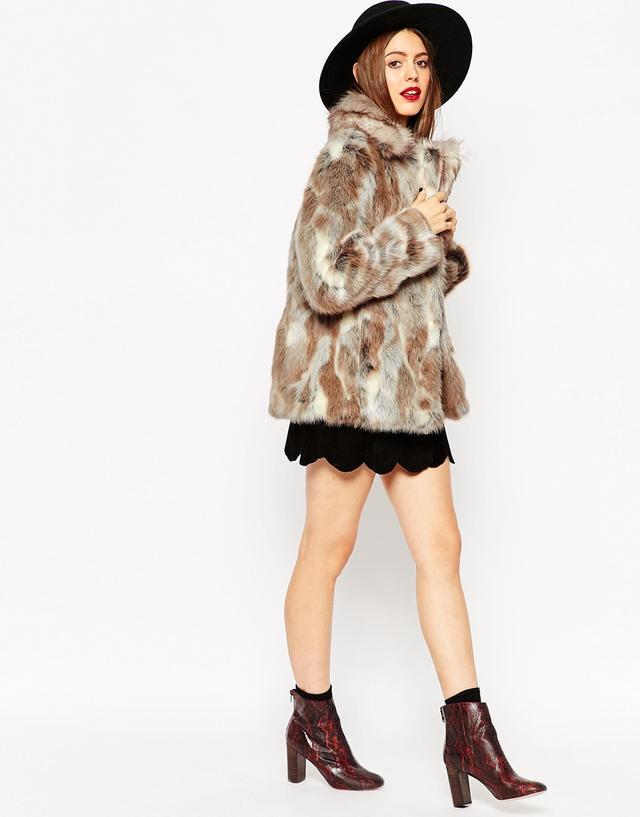 Faux Rabbit Fur Coat   Endource