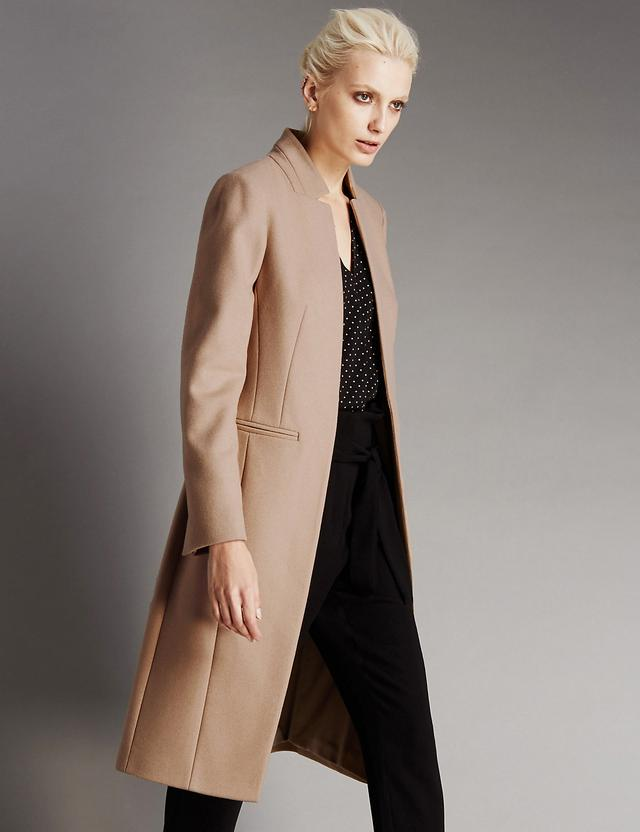 Wool rich panelled coat endource for Boden jennie coat
