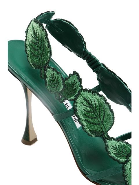 c7c069e37fb3 Climatida Leaf Embroidered Sandals