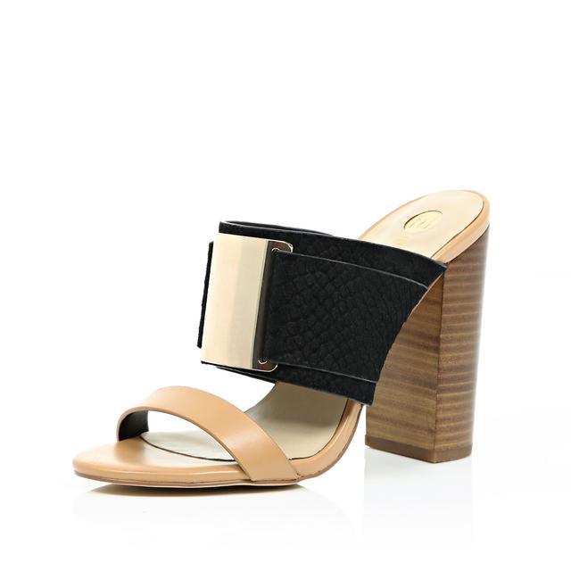 River Island block heeled mule cheap sale 2014 unisex FzqnVmkIc