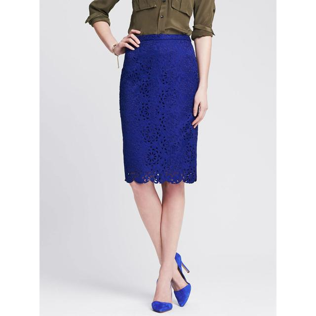 monogram cutout lace pencil skirt endource